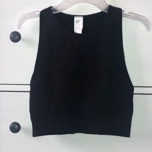 NWT Fabletics Black Crop with knit details